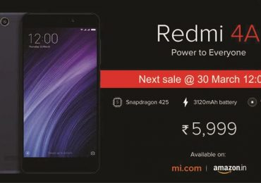2.5 lakh Xiaomi Redmi 4A sold in just 4 minutes, next sale March 30