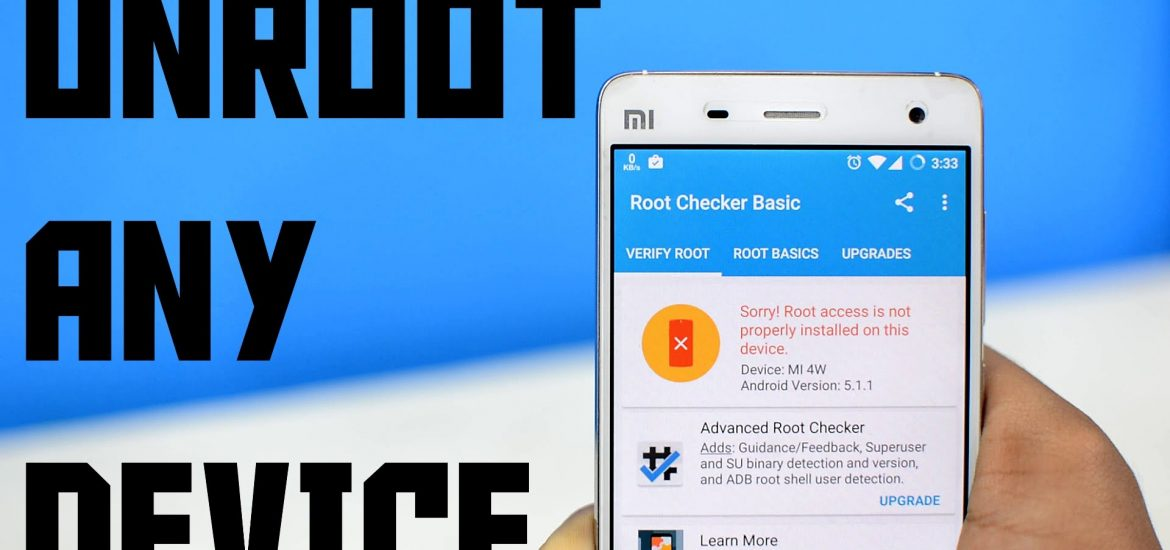 Unroot Android SmartPhone