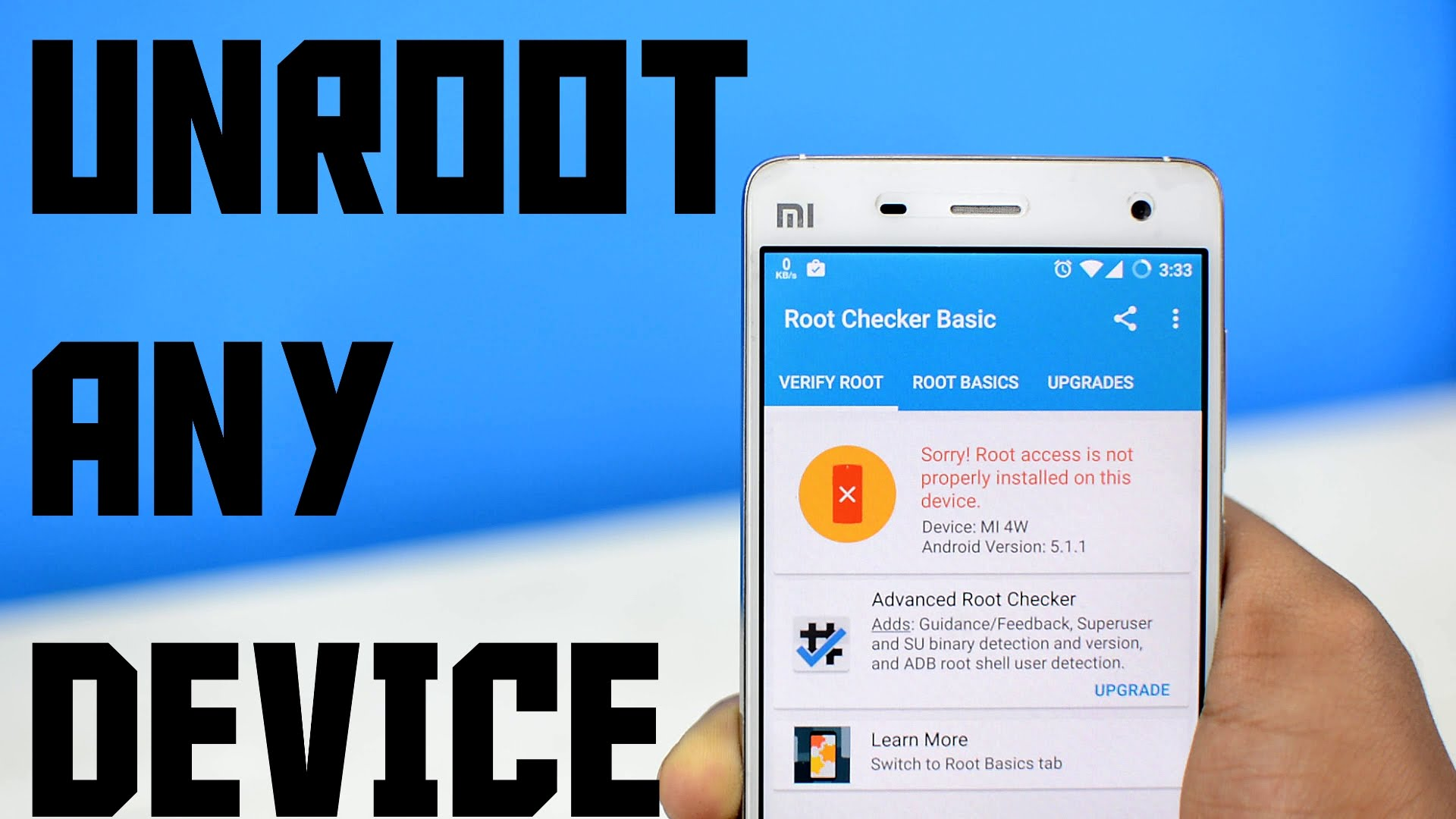 How to Unroot Android Smart Phones?