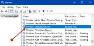 Windows Modules Installer