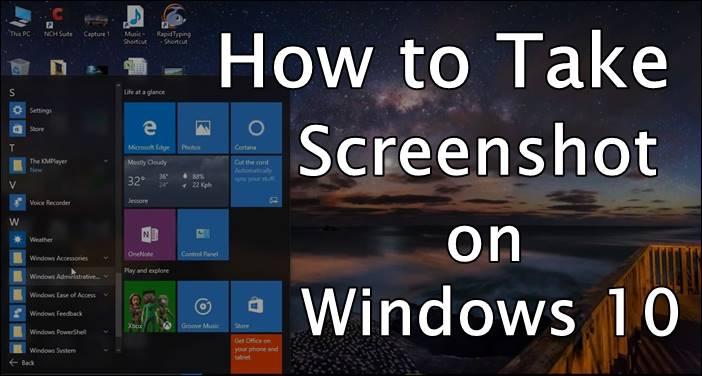 How to Take Screenshot on Windows 10